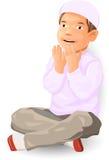 Μουσουλμανικό αγόρι που προσεύχεται - διανυσματική απεικόνιση Στοκ Φωτογραφίες