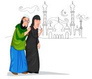 Μουσουλμανικό ζεύγος Στοκ εικόνα με δικαίωμα ελεύθερης χρήσης