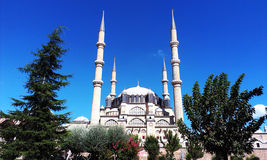 Μουσουλμανικό τέμενος Αδριανούπολη, Τουρκία Selimiye Στοκ Εικόνα