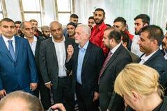 Μουσουλμανικό τέμενος επίσκεψης του Jeremy Corbyn στοκ φωτογραφία με δικαίωμα ελεύθερης χρήσης