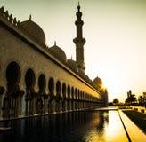 Μουσουλμανικό τέμενος, Ηνωμένα Αραβικά Εμιράτα στοκ φωτογραφία