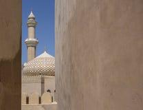 Μουσουλμανικό τέμενος κάστρων Nizwa Στοκ φωτογραφία με δικαίωμα ελεύθερης χρήσης