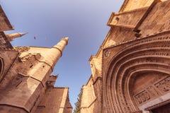 Μουσουλμανικό τέμενος και Bedesten Selimiye Κύπρος Λευκωσία Στοκ Εικόνες