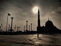 Μουσουλμανικό τέμενος και Dataran Putrajaya Putra Στοκ Εικόνα
