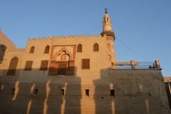 Μουσουλμανικό τέμενος μέσα στο ναό Luxor, Αίγυπτος Στοκ φωτογραφία με δικαίωμα ελεύθερης χρήσης
