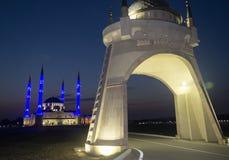 Μουσουλμανικό τέμενος νύχτας Στοκ φωτογραφία με δικαίωμα ελεύθερης χρήσης