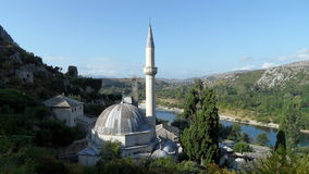 Μουσουλμανικό τέμενος σε Pocitelj, Βοσνία-Ερζεγοβίνη Στοκ εικόνα με δικαίωμα ελεύθερης χρήσης
