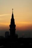 Μουσουλμανικό τέμενος σκιαγραφιών Στοκ φωτογραφία με δικαίωμα ελεύθερης χρήσης