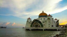 Μουσουλμανικό τέμενος στενών, Malacca Μαλαισία στοκ φωτογραφία