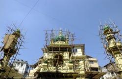 Μουσουλμανικό τέμενος στην κατασκευή Στοκ Φωτογραφίες