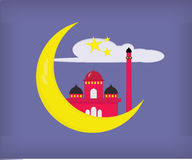 Μουσουλμανικό τέμενος στο φεγγάρι Στοκ εικόνα με δικαίωμα ελεύθερης χρήσης