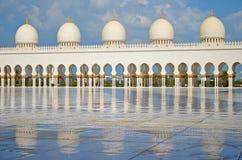 Μουσουλμανικό τέμενος του Αμπού Ντάμπι Στοκ Εικόνες
