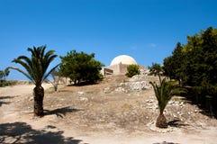 Μουσουλμανικό τέμενος του ιστορικού ενετικού φρουρίου Rethymno στοκ εικόνα