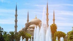 Μουσουλμανικό τέμενος του Ahmed σουλτάνων, μπλε μουσουλμανικό τέμενος, Ιστανμπούλ Στοκ Φωτογραφία