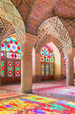 Μουσουλμανικό τέμενος του Nasir Al-Mulk στη Shiraz, Ιράν, επίσης γνωστό ως ρόδινο μουσουλμανικό τέμενος Στοκ Φωτογραφίες