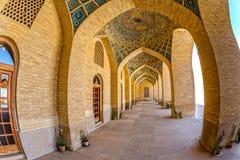 Μουσουλμανικό τέμενος του Nasir Al-Mulk arcade fisheye Στοκ φωτογραφία με δικαίωμα ελεύθερης χρήσης