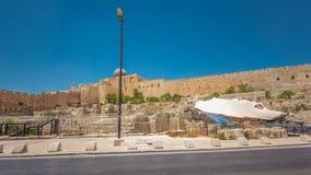 Μουσουλμανικό τέμενος Al-Aqsa timelapse hyperlapse - τρίτον πιό ιερή θέση στο Ισλάμ, Ιερουσαλήμ, Ισραήλ απόθεμα βίντεο