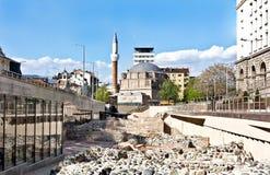 Μουσουλμανικό τέμενος Bashi Banya και καταστροφές αρχαίου Serdica, Sofia, Βουλγαρία Στοκ φωτογραφία με δικαίωμα ελεύθερης χρήσης