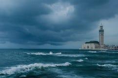 Μουσουλμανικό τέμενος Hassan ΙΙ Στοκ εικόνες με δικαίωμα ελεύθερης χρήσης