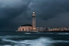 Μουσουλμανικό τέμενος Hassan ΙΙ Στοκ φωτογραφία με δικαίωμα ελεύθερης χρήσης