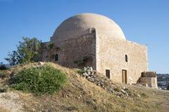 Μουσουλμανικό τέμενος Ibrahim khan. Φρούριο Fortezz. Rethymno. Νησί Cret Στοκ Εικόνα