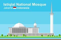 Μουσουλμανικό τέμενος Istiqlal της Τζακάρτα Στοκ εικόνα με δικαίωμα ελεύθερης χρήσης