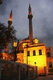Μουσουλμανικό τέμενος Kadikoy το βράδυ στη Ιστανμπούλ στοκ εικόνες με δικαίωμα ελεύθερης χρήσης