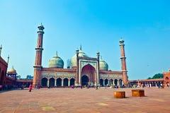 Μουσουλμανικό τέμενος Masjid Jama, παλαιό Δελχί στοκ φωτογραφίες