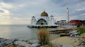 Μουσουλμανικό τέμενος Melaka Selat (στενό Malacca), Malacca, Μαλαισία Στοκ Εικόνα