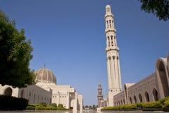 Μουσουλμανικό τέμενος Qaboos σουλτάνων στοκ φωτογραφίες με δικαίωμα ελεύθερης χρήσης