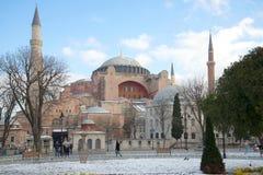 Μουσουλμανικό τέμενος ST Sophia, ηλιόλουστη ημέρα Ιανουαρίου Κωνσταντινούπολη Στοκ φωτογραφία με δικαίωμα ελεύθερης χρήσης