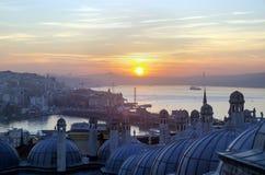 Μουσουλμανικό τέμενος Suleymaniye από την άποψη ανατολής κήπων της Ιστανμπούλ Στοκ εικόνες με δικαίωμα ελεύθερης χρήσης