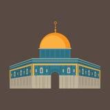 μουσουλμανικό τέμενος &tau παλαιός βράχος της Ιερουσαλήμ θόλων sity Αρχιτεκτονική Religios Στοκ Εικόνα