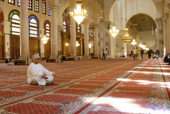 Μουσουλμανικό τέμενος Umayyad στη Δαμασκό στοκ φωτογραφίες με δικαίωμα ελεύθερης χρήσης