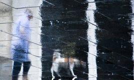 Μουτζουρωμένες σκιαγραφίες σκιών αντανάκλασης ενός ανώτερου περπατήματος προσώπων Στοκ φωτογραφίες με δικαίωμα ελεύθερης χρήσης