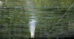 Μουτζουρωμένη σκιαγραφία αντανάκλασης ενός προσώπου που περπατά μια βροχερή ημέρα Στοκ Εικόνες
