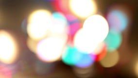Μουτζουρωμένος ζωηρόχρωμος δυναμικός βρόχος υποβάθρου φω'των τηλεοπτικός φιλμ μικρού μήκους