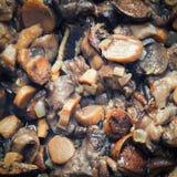 Μουτζουρωμένος που τηγανίζεται mashrooms Στοκ φωτογραφία με δικαίωμα ελεύθερης χρήσης
