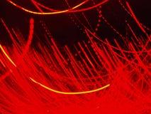 Μουτζουρωμένος τα κόκκινα φω'τα νύχτας στο σκοτάδι Στοκ Εικόνες