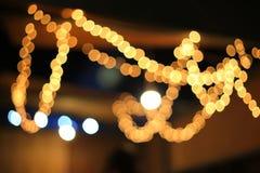 Μουτζουρωμένο ελαφρύ αφηρημένο υπόβαθρο νύχτας νέου Στοκ Φωτογραφία