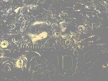 Μουτζουρωμένο μηχανικό υπόβαθρο Στοκ Φωτογραφία