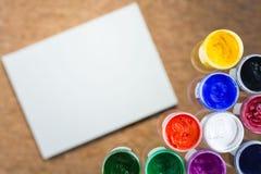 Μουτζουρωμένο χρώμα εγγράφου και γκουας Στοκ Εικόνες