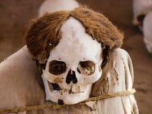 Μούμια στη archeological περιοχή Chauchilla Στοκ Εικόνες