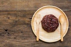 Μούρο ρυζιού ρυζιού στο πιάτο Στοκ εικόνα με δικαίωμα ελεύθερης χρήσης