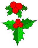 Μούρο της Holly Χριστουγέννων Στοκ Εικόνες
