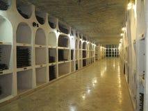 3 10 2015, Μολδαβία, Cricova Μεγάλο υπόγειο κελάρι κρασιού με ομο Στοκ εικόνες με δικαίωμα ελεύθερης χρήσης