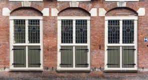Μολυβδούχα παράθυρα γυαλιού στο Άμστερνταμ Στοκ Εικόνες