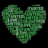 Μολυμένη αγάπη πράσινη Στοκ φωτογραφίες με δικαίωμα ελεύθερης χρήσης
