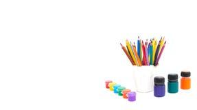 Μολύβια για τη σχολική δημιουργικότητα Στοκ φωτογραφία με δικαίωμα ελεύθερης χρήσης
