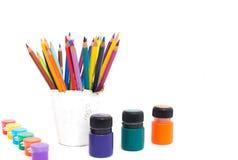 Μολύβια για τη σχολική δημιουργικότητα Στοκ Εικόνες